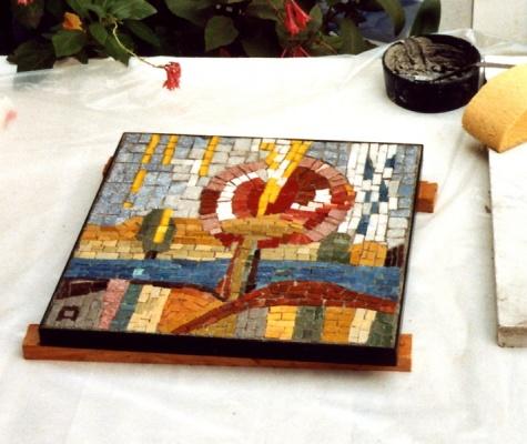 Mosaikbild, 30 x 30 cm
